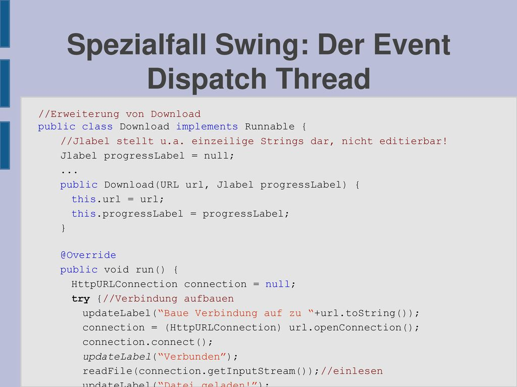 Spezialfall Swing: Der Event Dispatch Thread