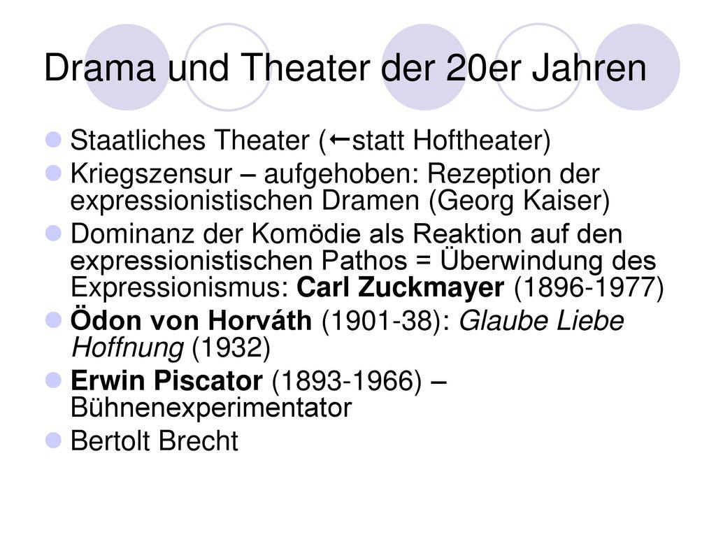 Drama und Theater der 20er Jahren