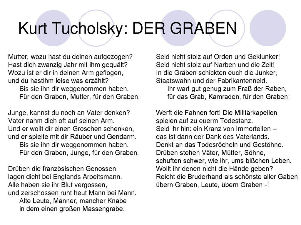 Kurt Tucholsky: DER GRABEN