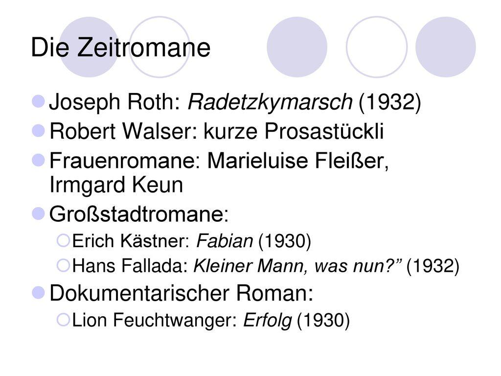 Die Zeitromane Joseph Roth: Radetzkymarsch (1932)