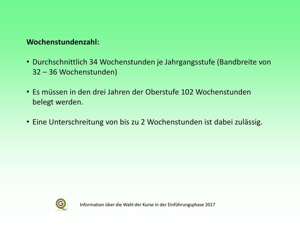 Information über die Wahl der Kurse in der Einführungsphase 2017