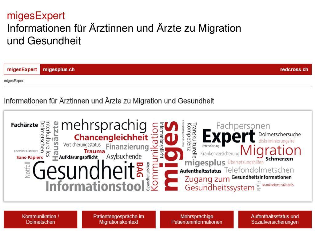 Informationen für Ärztinnen und Ärzte zu Migration und Gesundheit