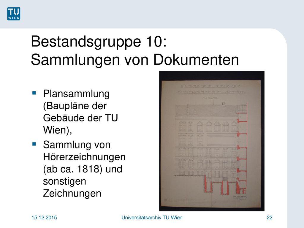 Bestandsgruppe 10: Sammlungen von Dokumenten