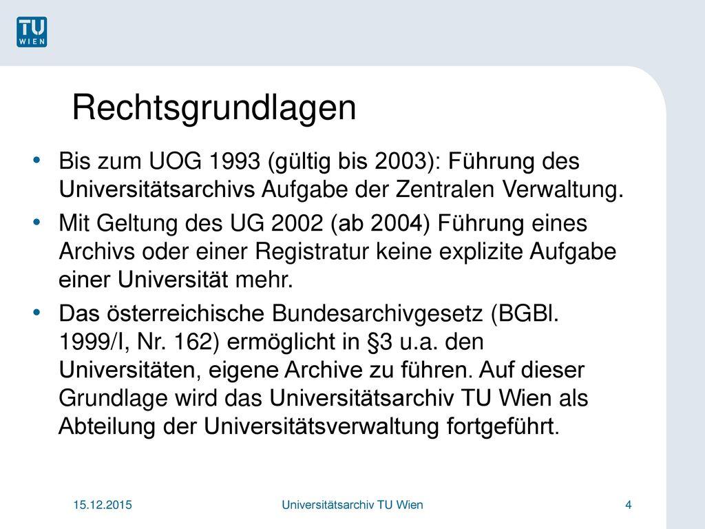 Universitätsarchiv TU Wien