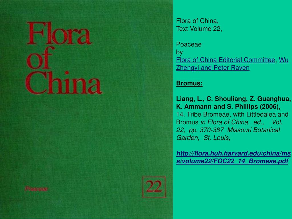 Flora of China, Text Volume 22,
