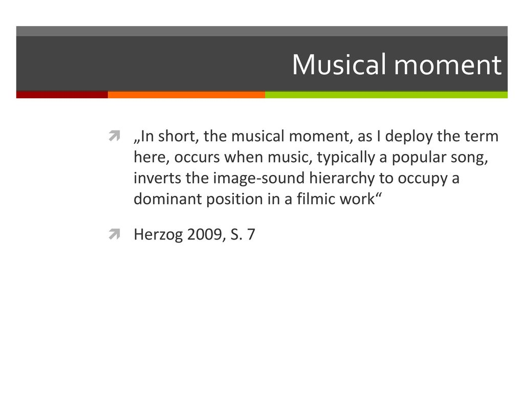 Musical moment