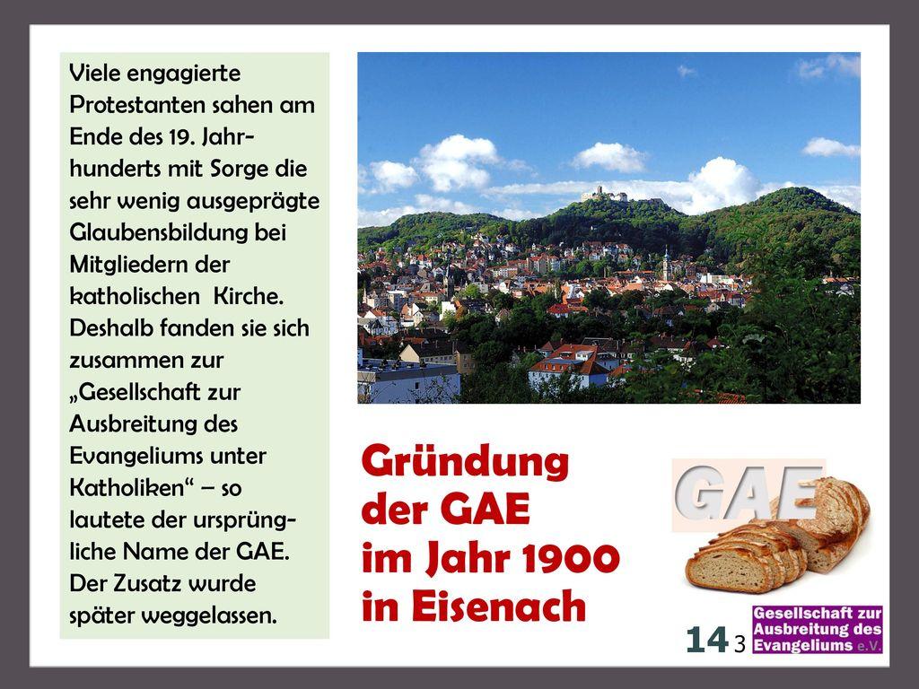 Gründung der GAE im Jahr 1900 in Eisenach