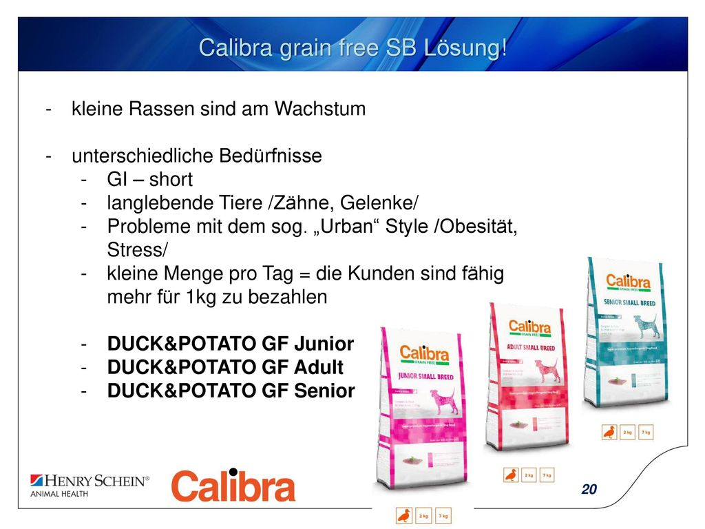 Calibra grain free SB Lösung!
