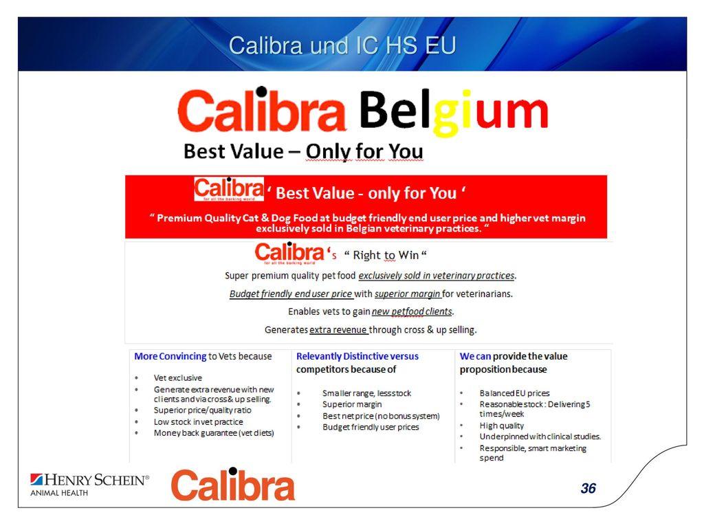 Calibra und IC HS EU
