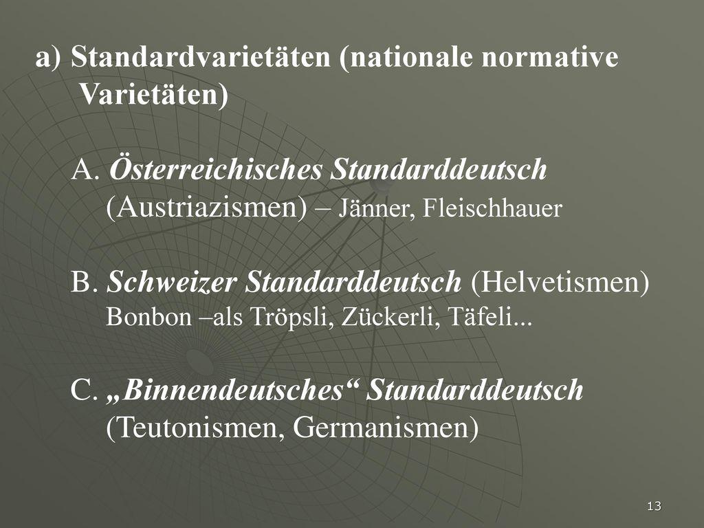 Standardvarietäten (nationale normative