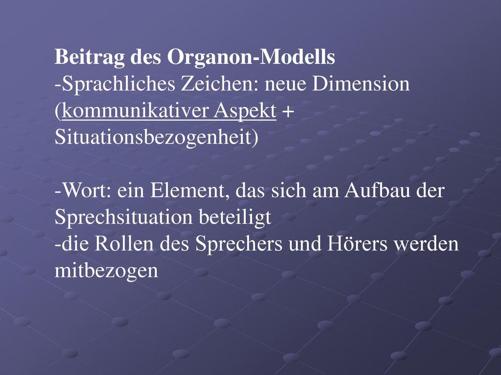 Beitrag des Organon-Modells