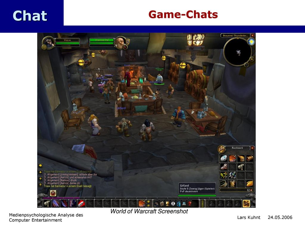 Chat Game-Chats World of Warcraft Screenshot