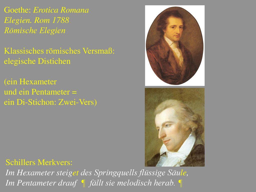 Goethe: Erotica Romana