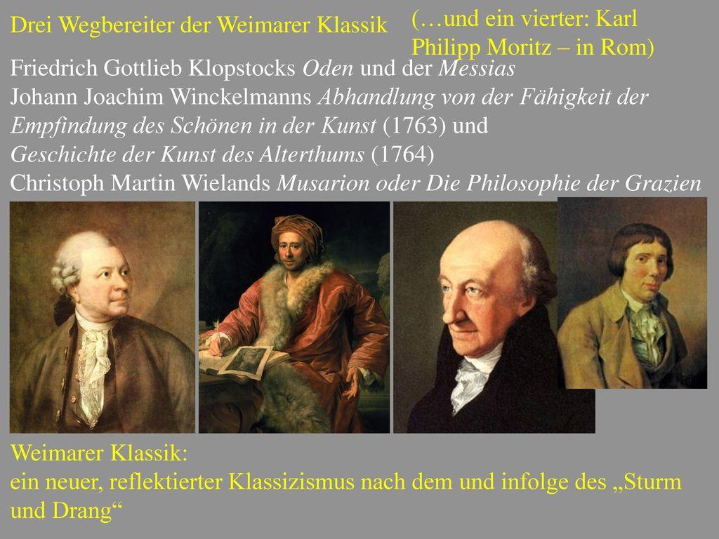 (…und ein vierter: Karl Philipp Moritz – in Rom)