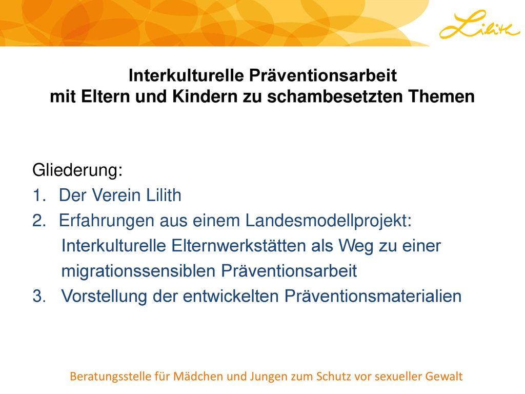 Interkulturelle Präventionsarbeit mit Eltern und Kindern zu schambesetzten Themen