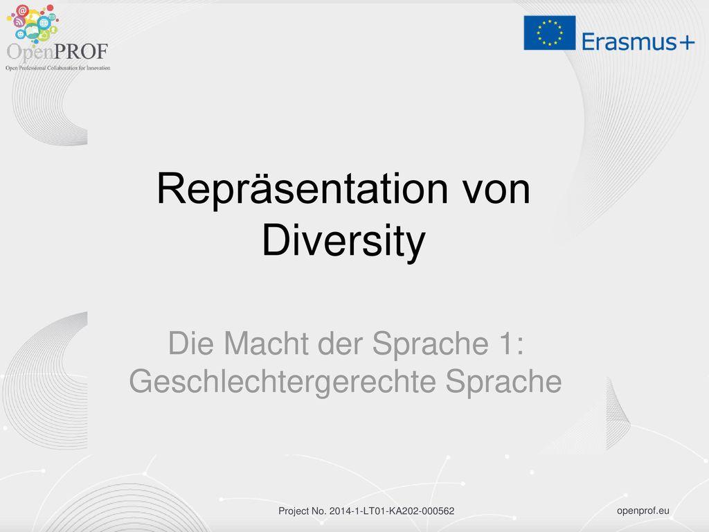 Repräsentation von Diversity