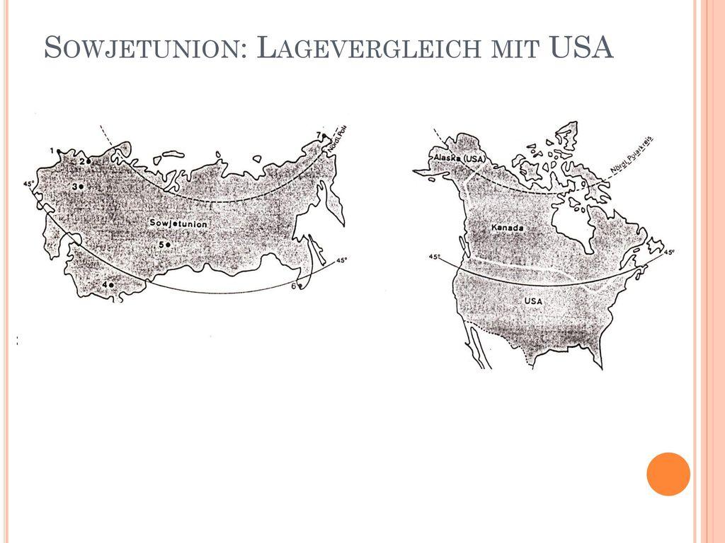 Sowjetunion: Lagevergleich mit USA