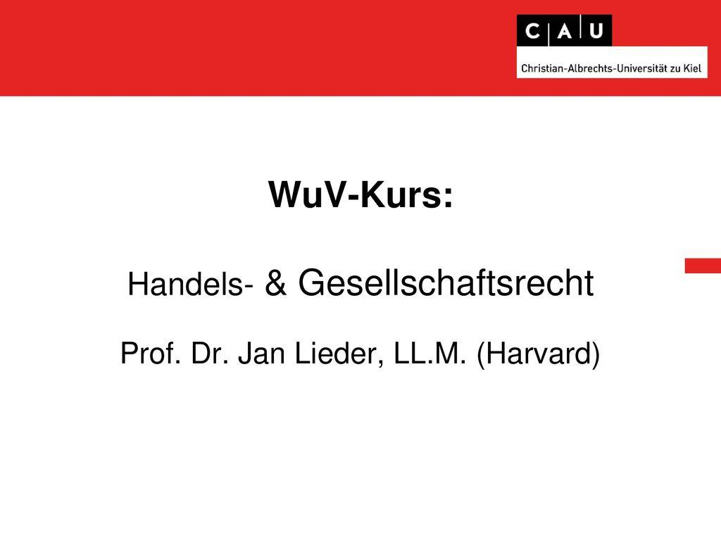 WuV-Kurs: Handels- & Gesellschaftsrecht