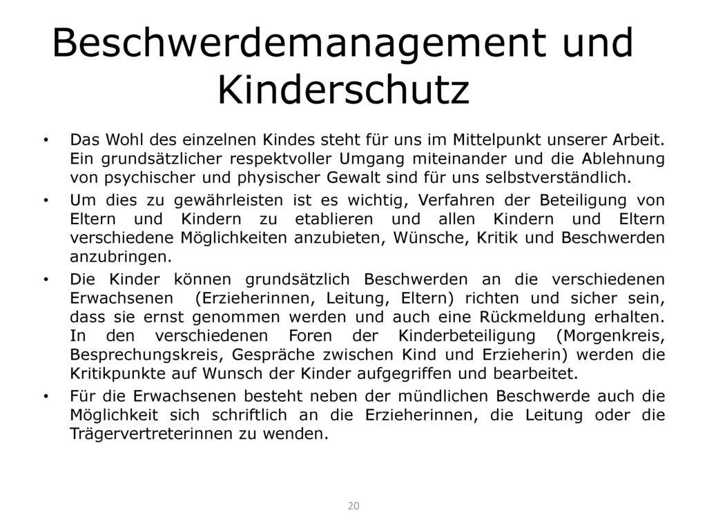 Beschwerdemanagement und Kinderschutz