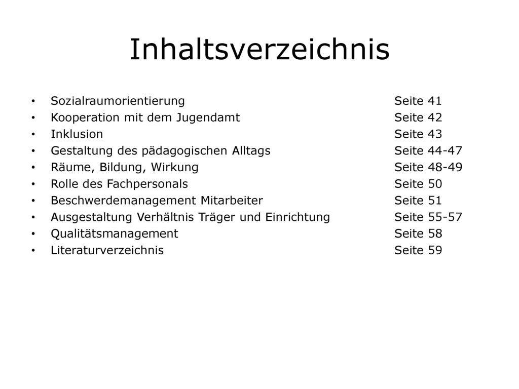 Inhaltsverzeichnis Sozialraumorientierung Seite 41