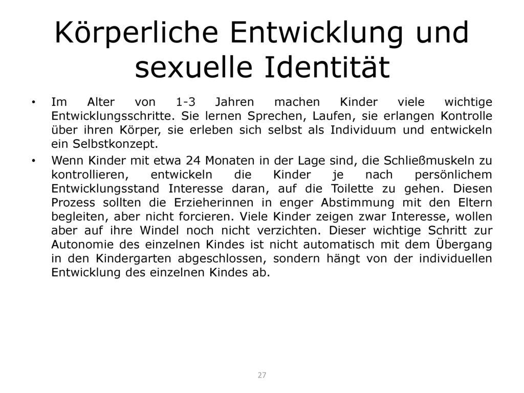 Körperliche Entwicklung und sexuelle Identität