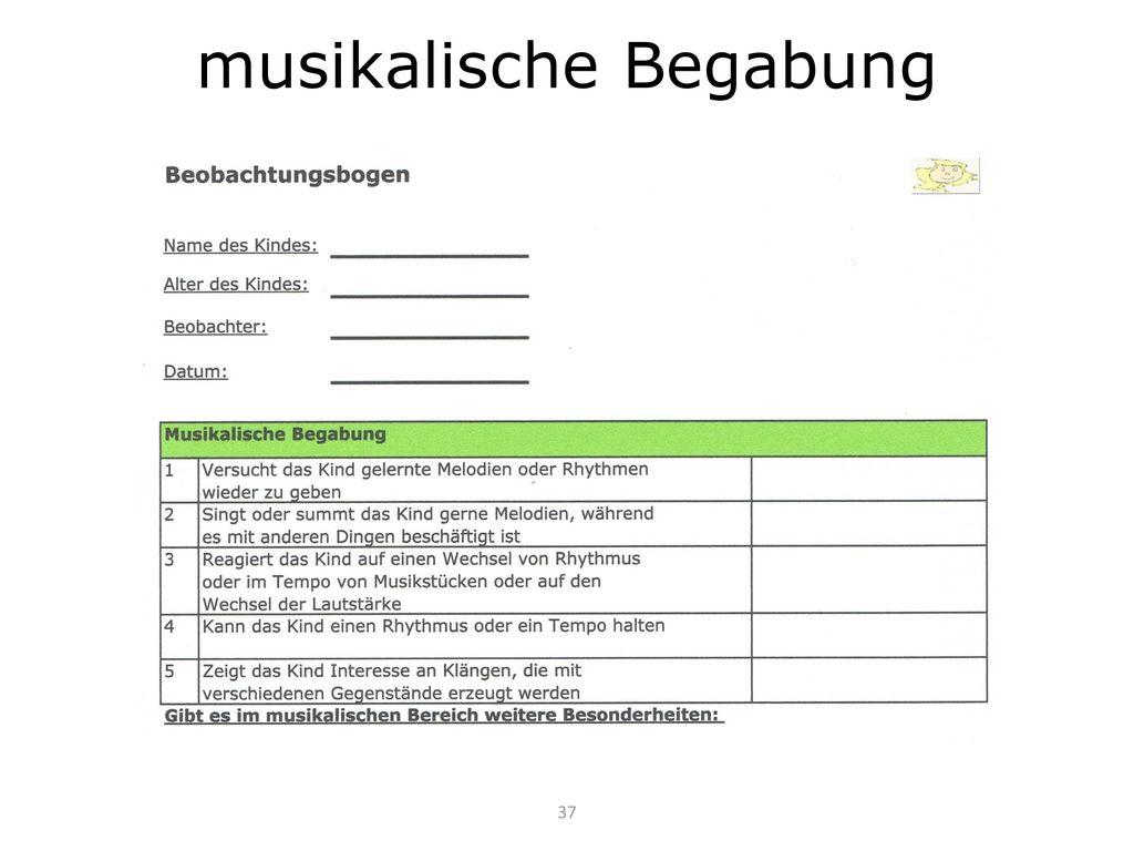 musikalische Begabung