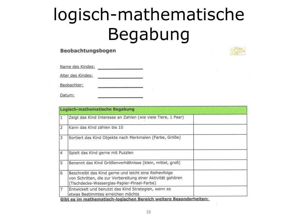 logisch-mathematische Begabung