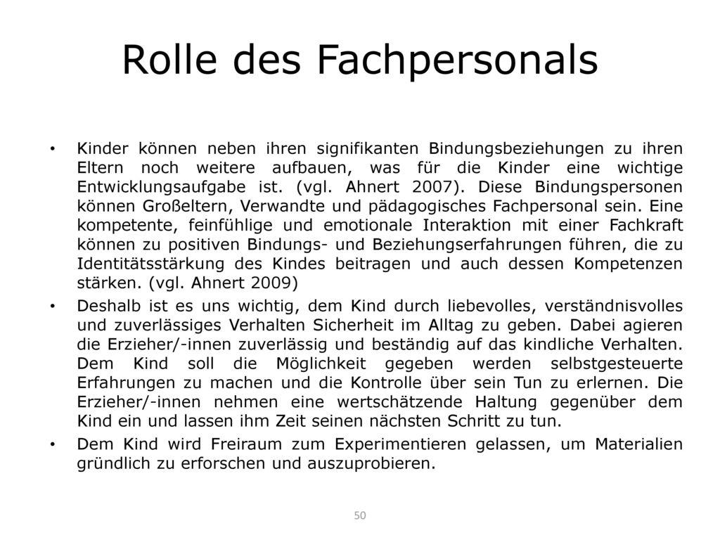 Rolle des Fachpersonals