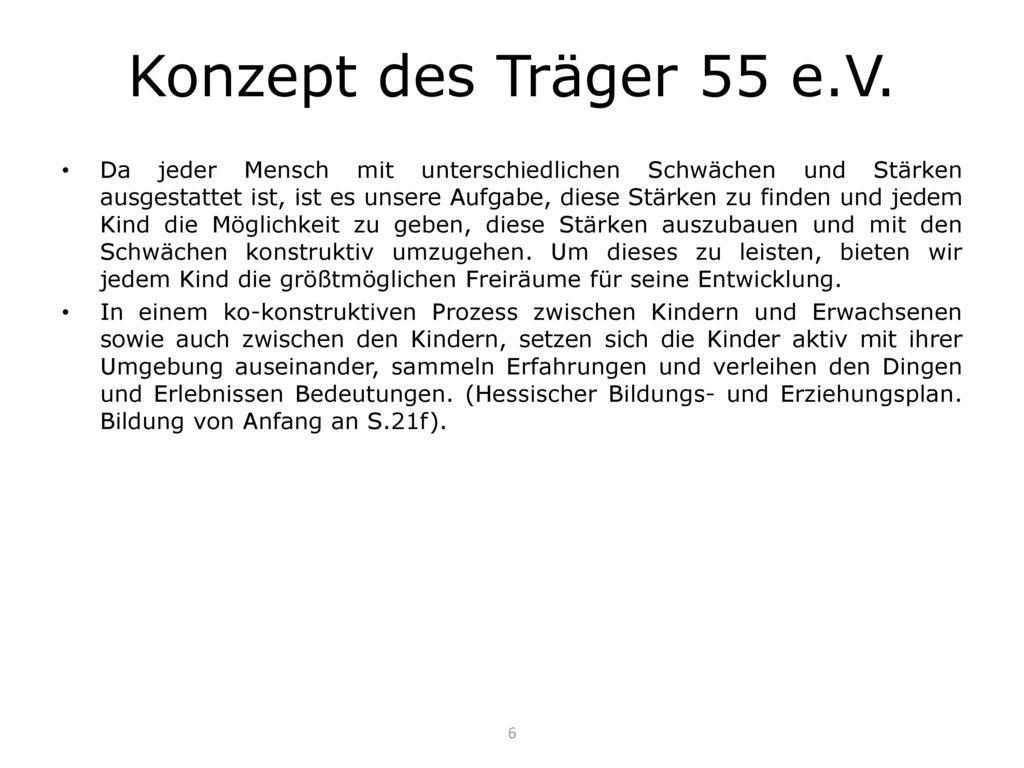 Konzept des Träger 55 e.V.
