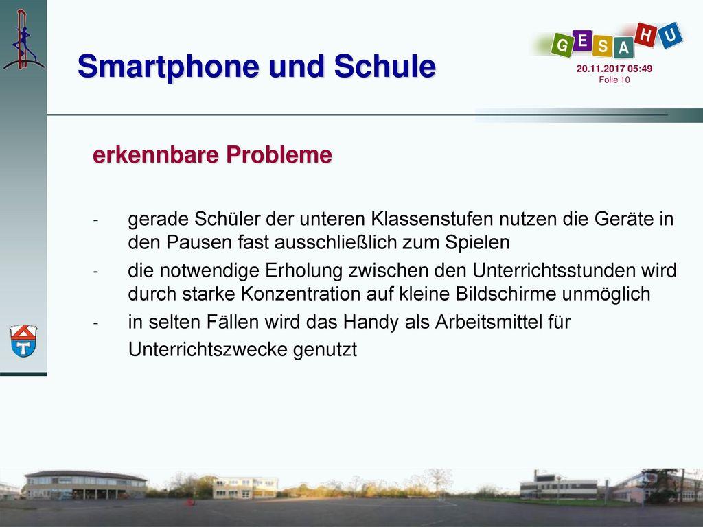 Smartphone und Schule erkennbare Probleme