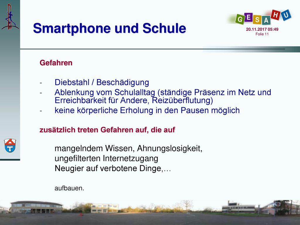 Smartphone und Schule Diebstahl / Beschädigung