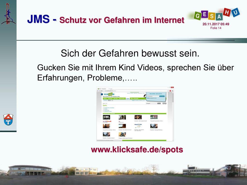 JMS - Schutz vor Gefahren im Internet