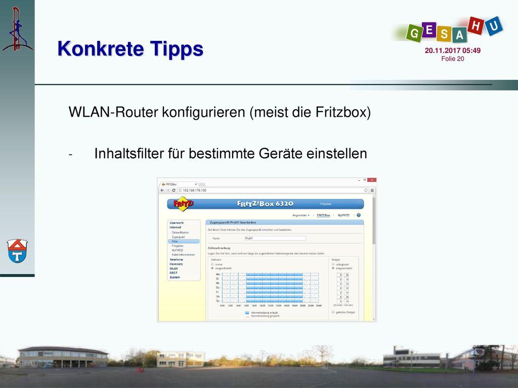 Konkrete Tipps WLAN-Router konfigurieren (meist die Fritzbox)