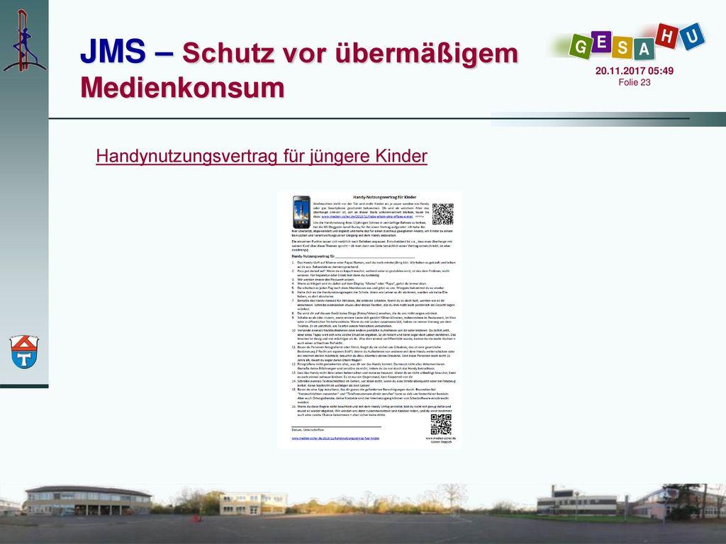 JMS – Schutz vor übermäßigem Medienkonsum