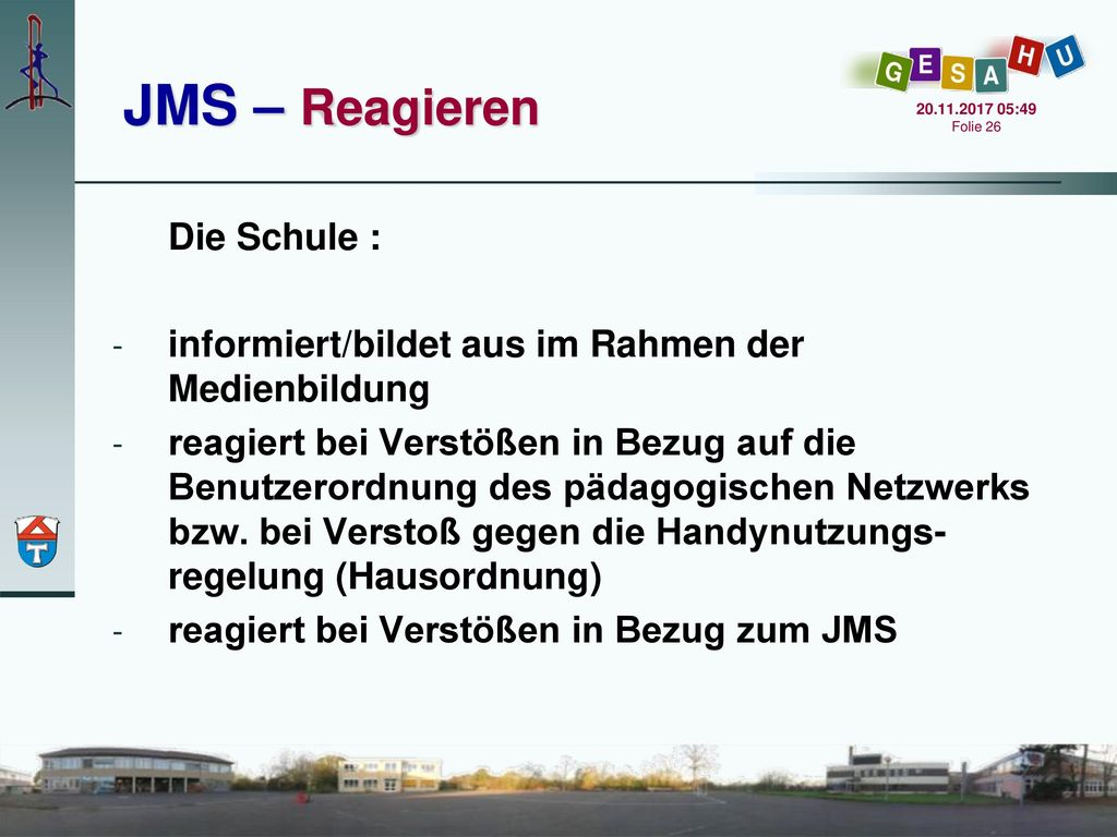 JMS – Reagieren Die Schule :