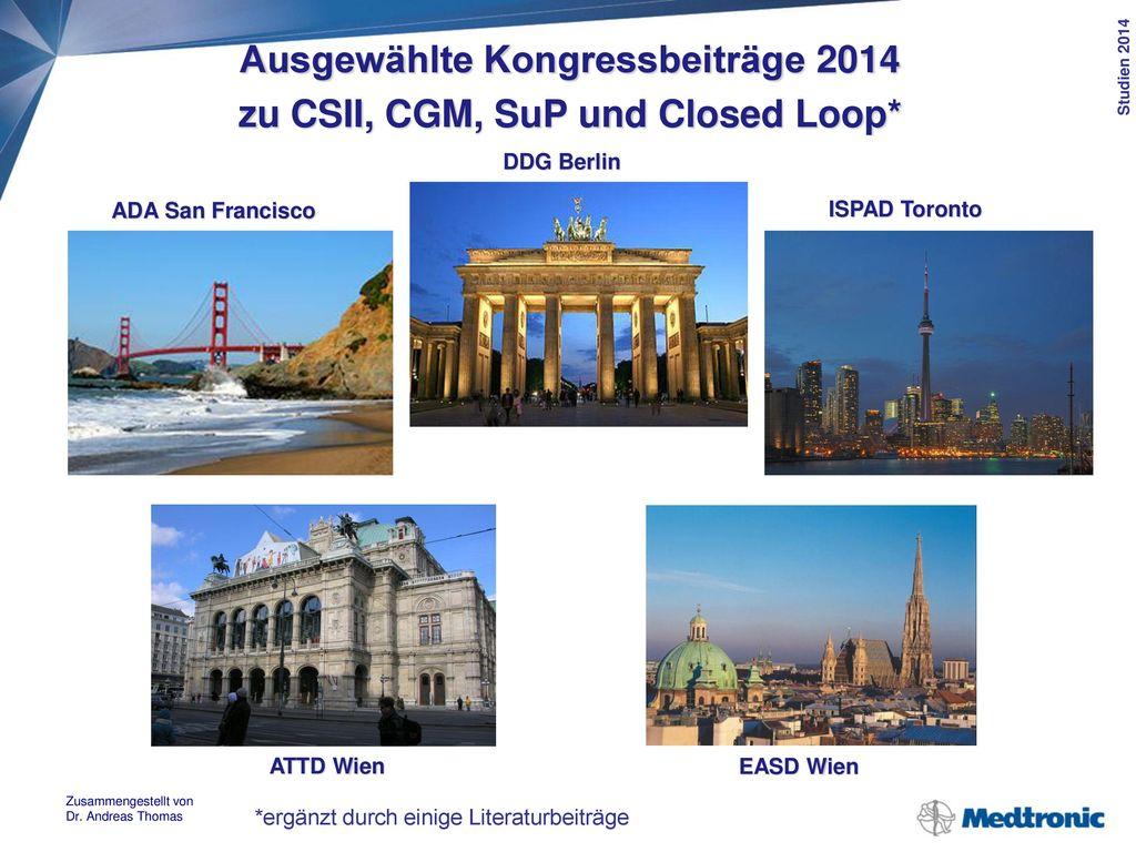 Ausgewählte Kongressbeiträge 2014 zu CSII, CGM, SuP und Closed Loop
