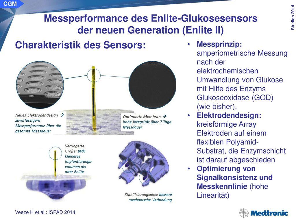 CGM Messperformance des Enlite-Glukosesensors der neuen Generation (Enlite II) Methode/Klientel: