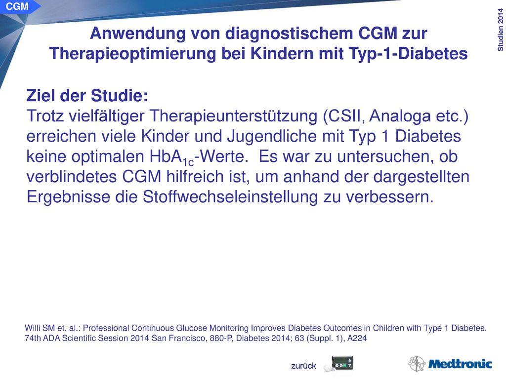 retrospektiven Kohortenstudie in einem Diabeteszentrum