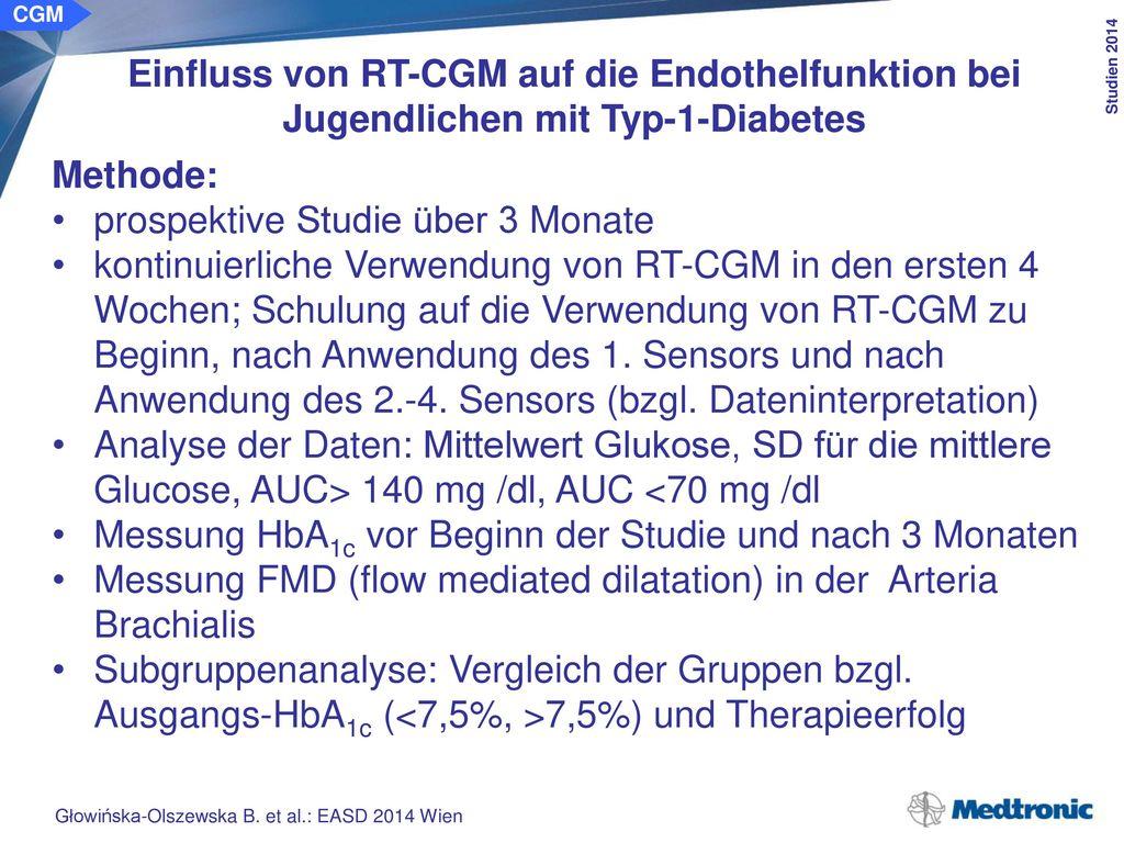 40 Patienten mit Typ-1-Diabetes (21w/19m), nicht optimal eingestellt