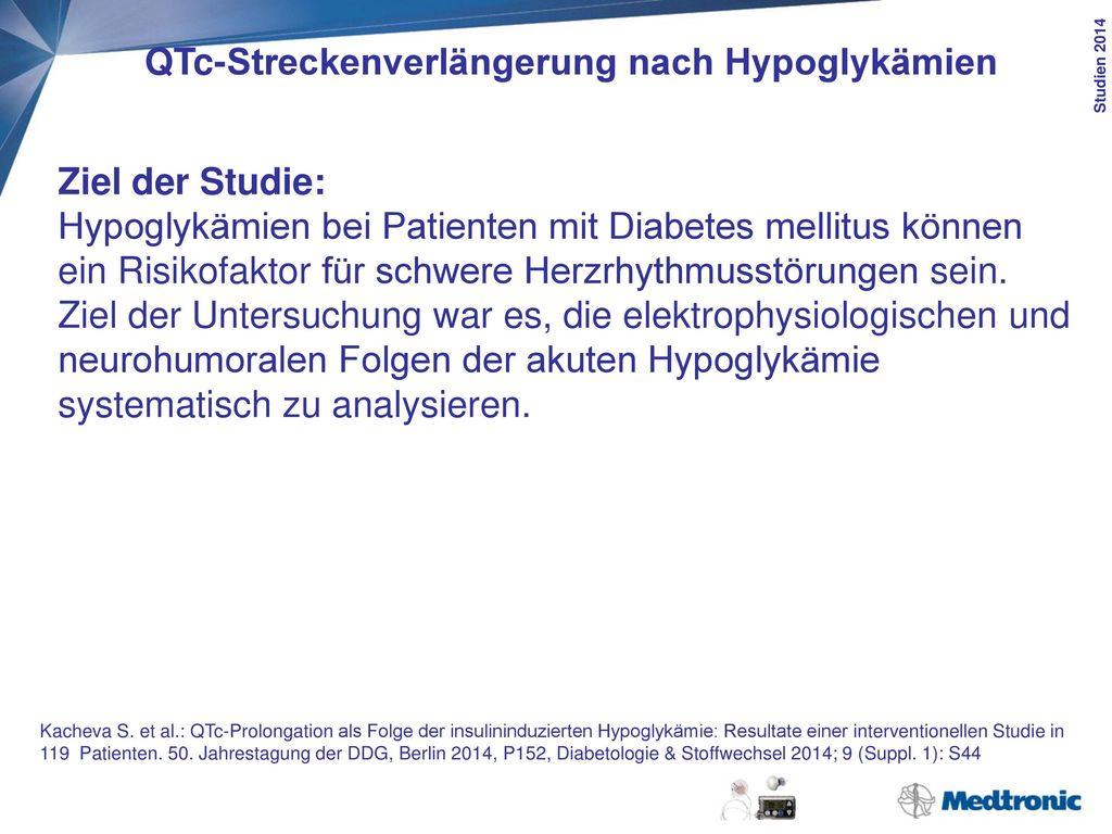 QTc-Streckenverlängerung nach Hypoglykämien