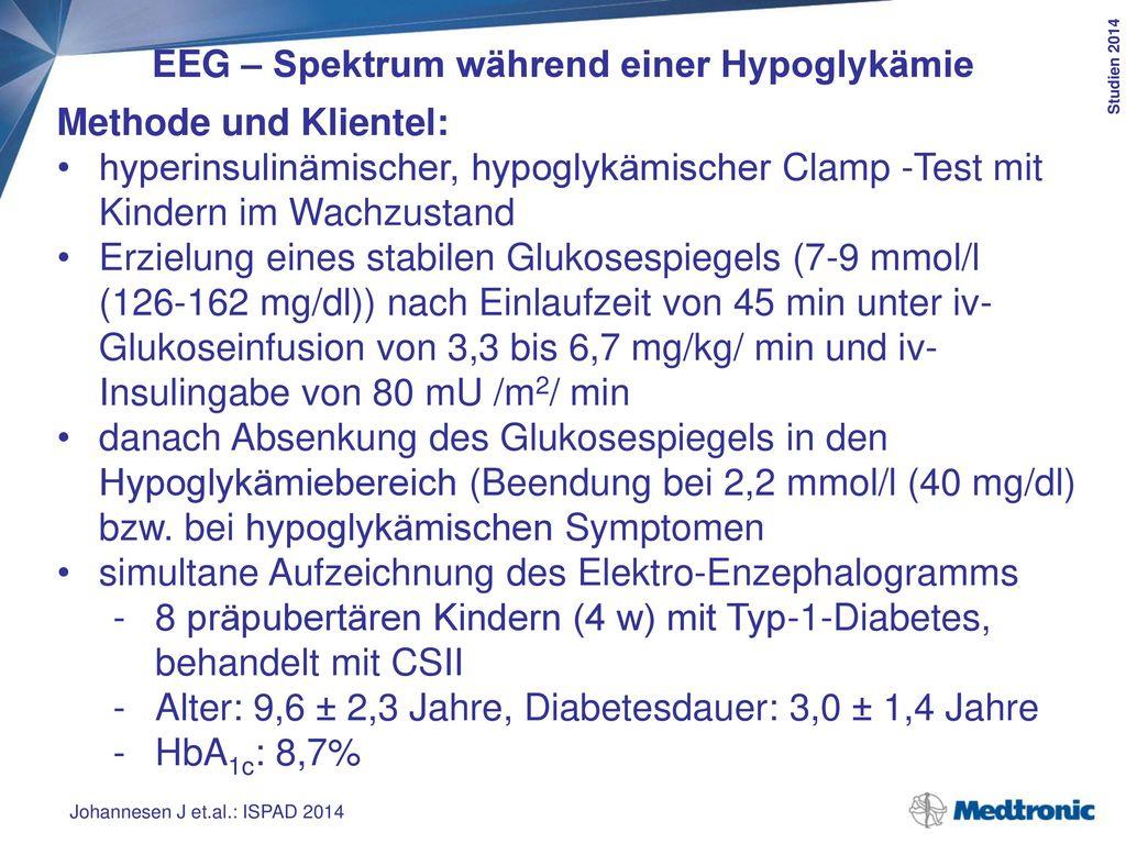 EEG – Spektrum während einer Hypoglykämie