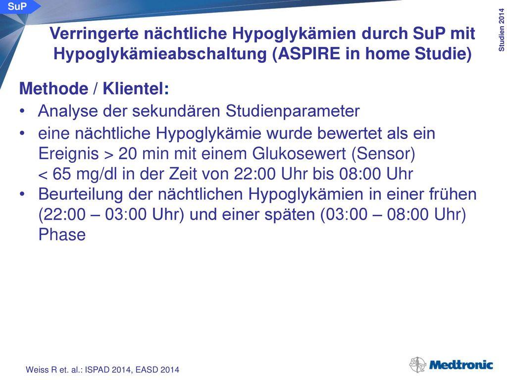 AUC der nächtlichen Hypo-glykämien (alle Patienten):