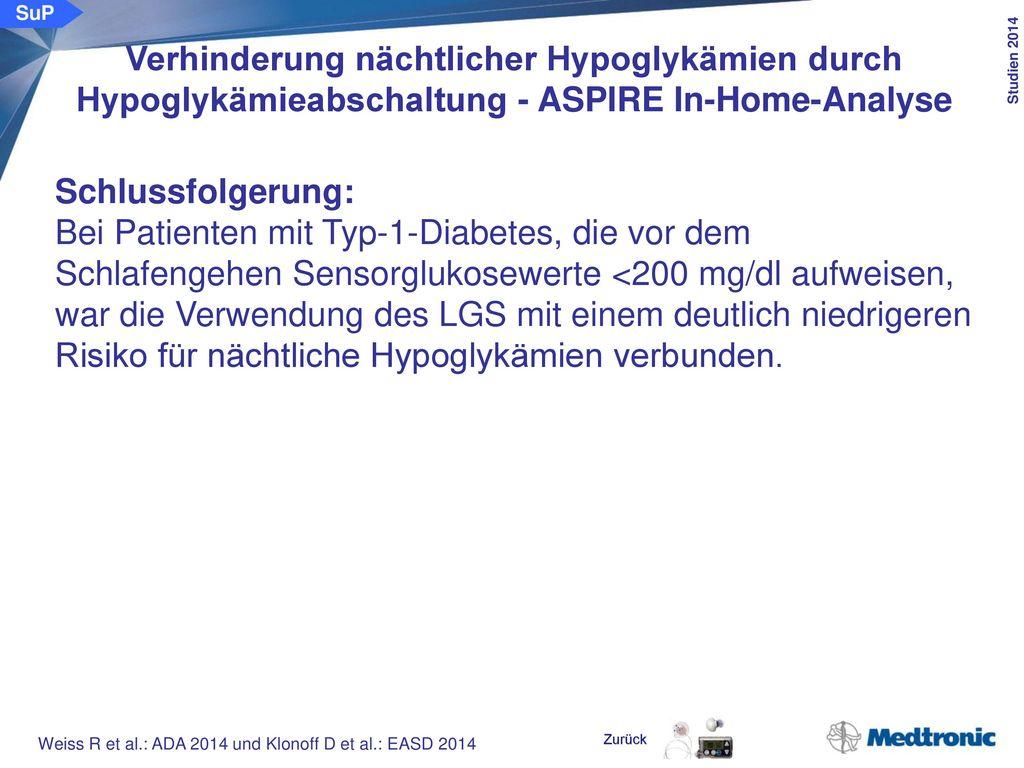 Prädiktoren für nächtliche Hypoglykämien