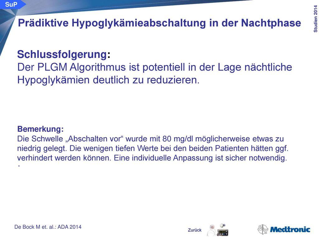 Schlussfolgerungen zu CGM, zur SuP und zur SuP mit Hypoglykämieabschaltung