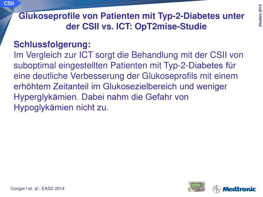 CSII Verbesserung der Behandlungsqualität bei Patienten mit Typ-2-Diabetes unter der CSII vs. ICT: OpT2mise-Studie.