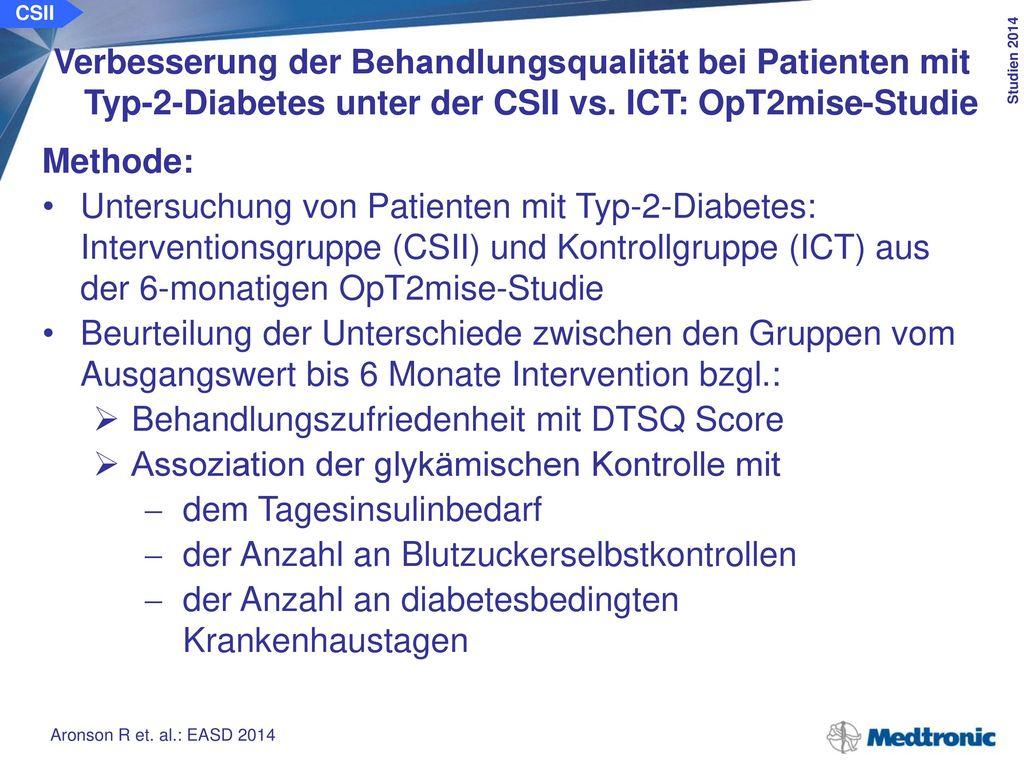 Patienten mit Typ-2-Diabetes aus der OpT2mise-Studie