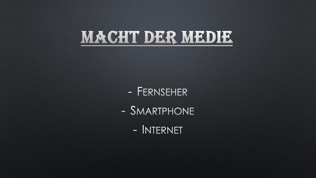 Fernseher Smartphone Internet