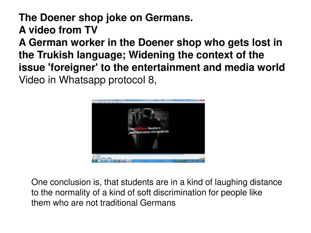 The Doener shop joke on Germans