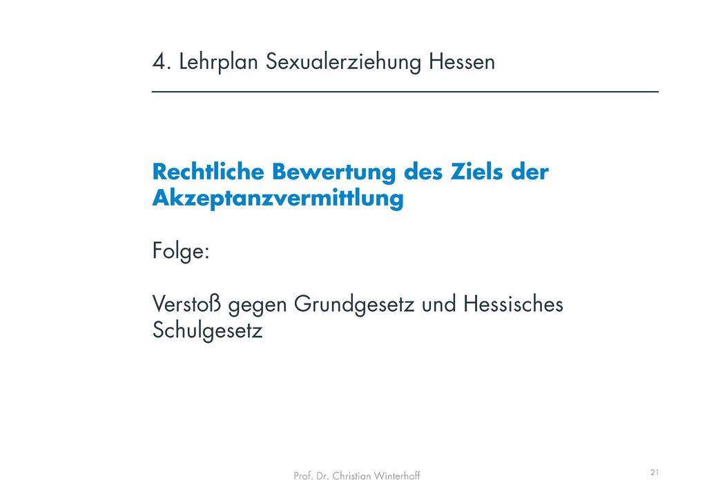 4. Lehrplan Sexualerziehung Hessen