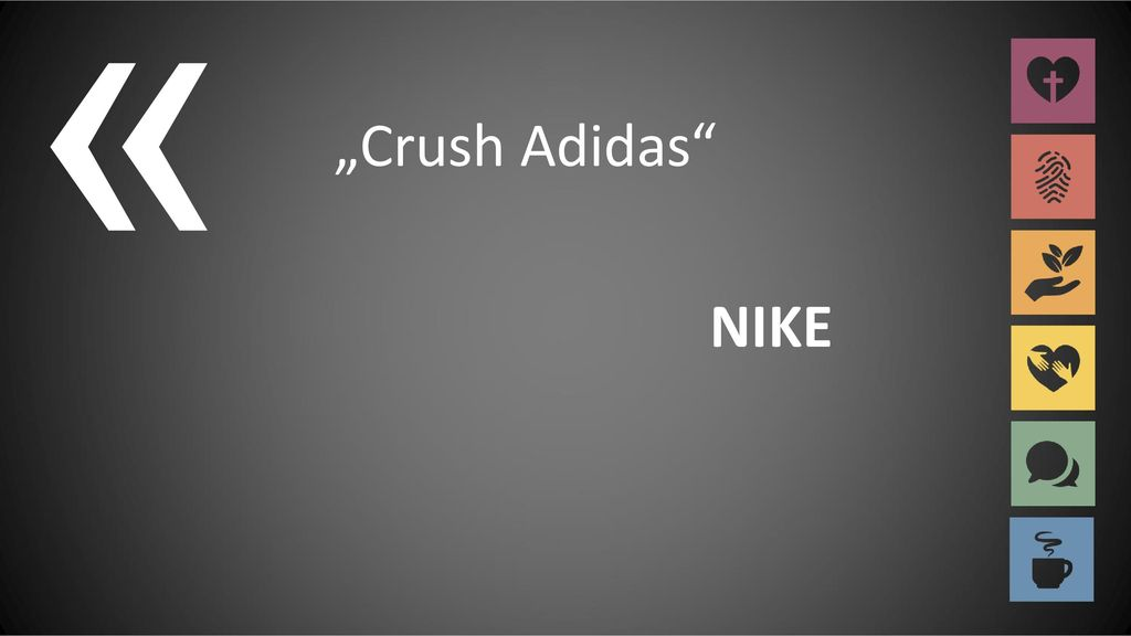 "« ""Crush Adidas NIKE"